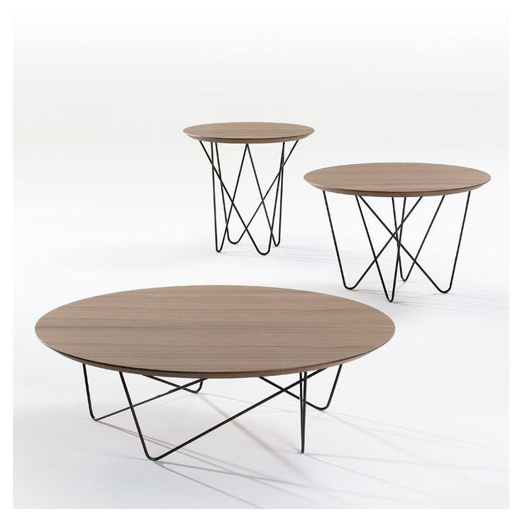 Petite table basse ovale en bois