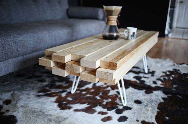 Comment faire une table basse scandinave