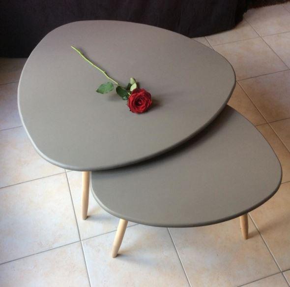 Table basse ronde en bois fait main