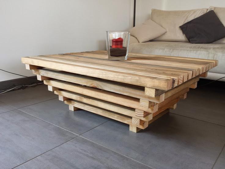 Construction table basse bois