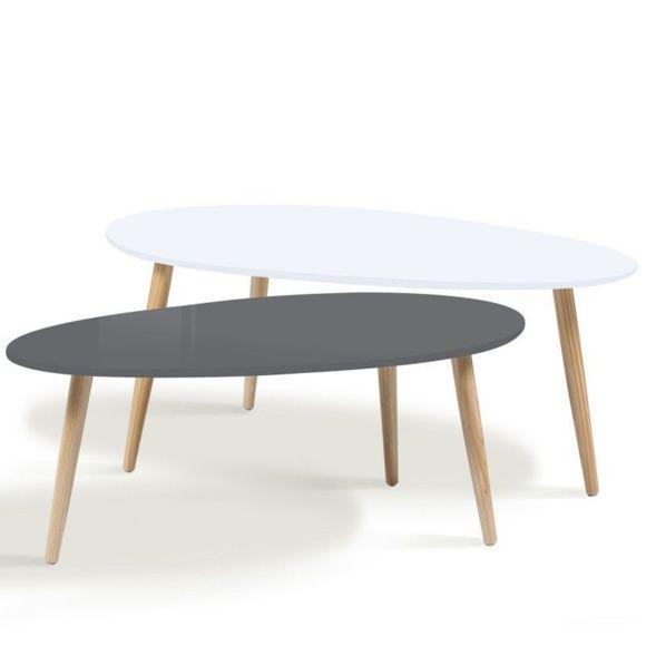Table basse scandinave grise pas cher