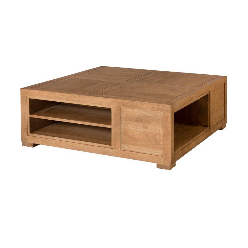 Table basse carré bois brut