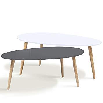 Table basse scandinave reglable