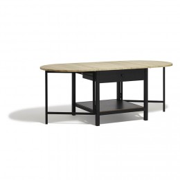 Table basse style scandinave noir