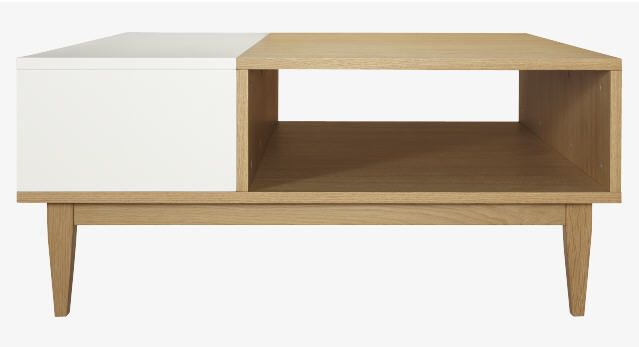 Habitat table basse bois