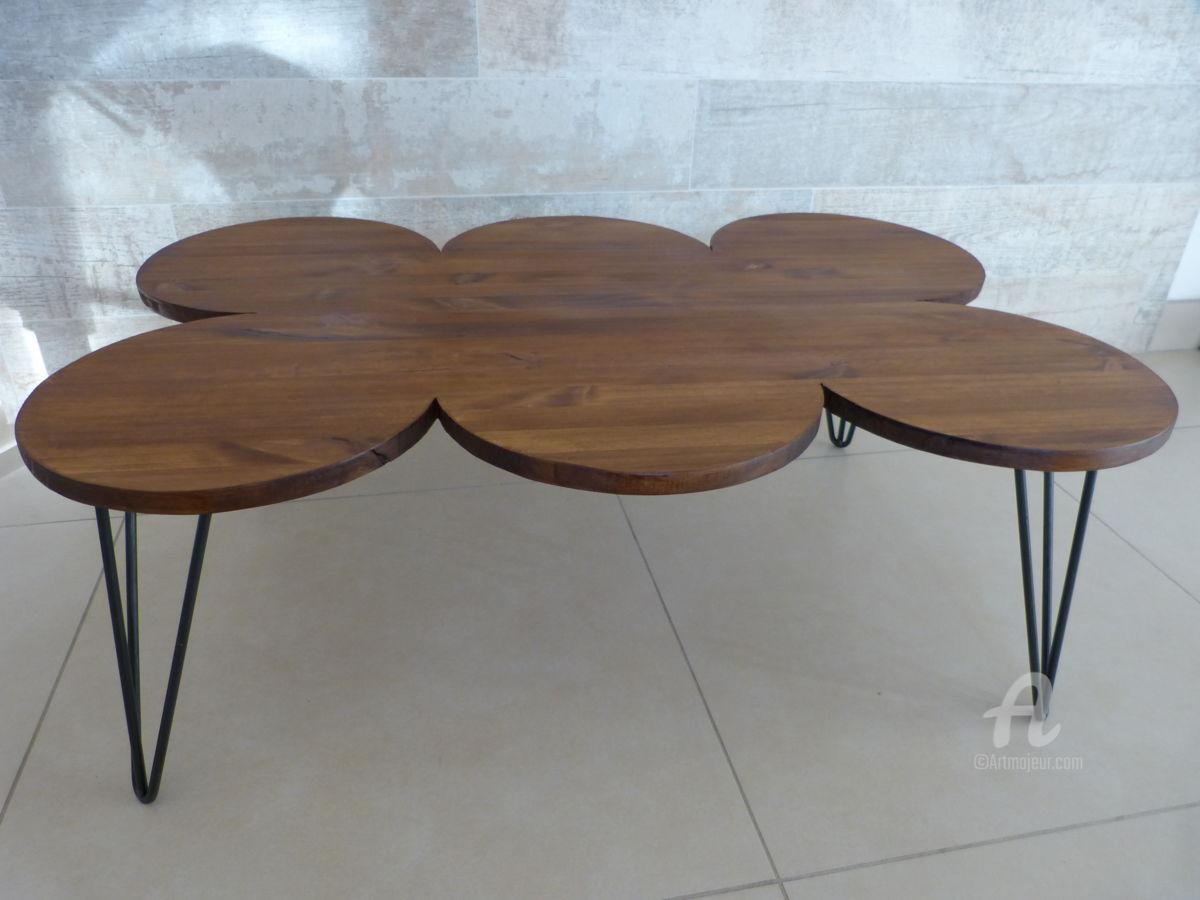 Table basse minimaliste bois