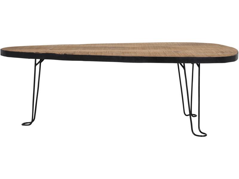Table basse bois massif 120 cm