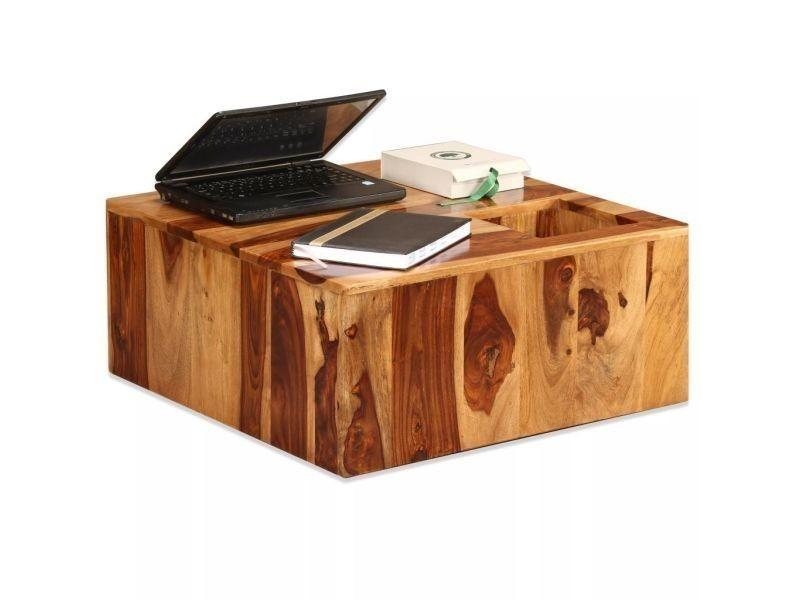Table basse bois 70x70