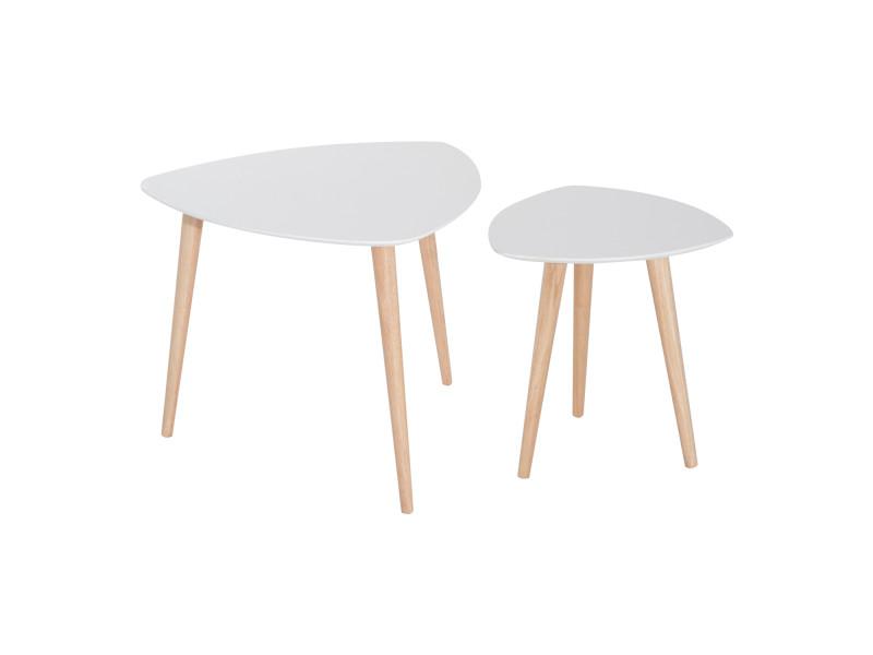 Table basse scandinave pied blanc