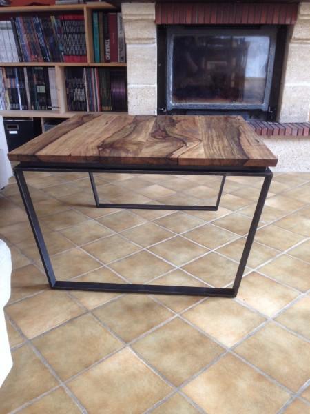 Table basse ferronnerie et bois