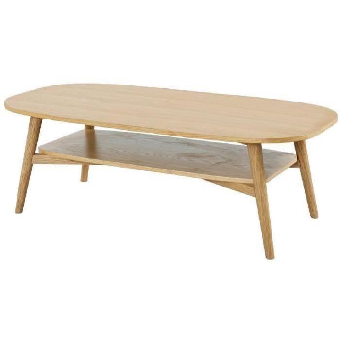 Table basse scandinave solal chêne clair