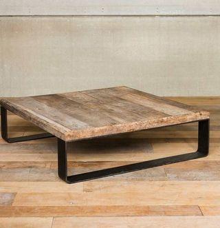 Faire une table basse bois et metal