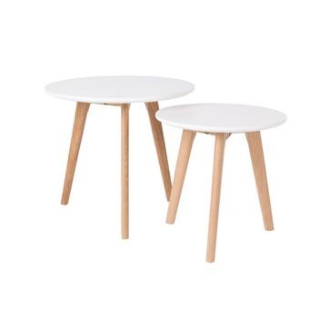 Table basse 2 niveaux scandinave