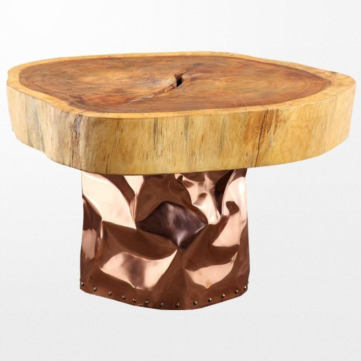 Table basse bois sans pied