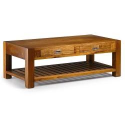 Table basse en bois exotique massif