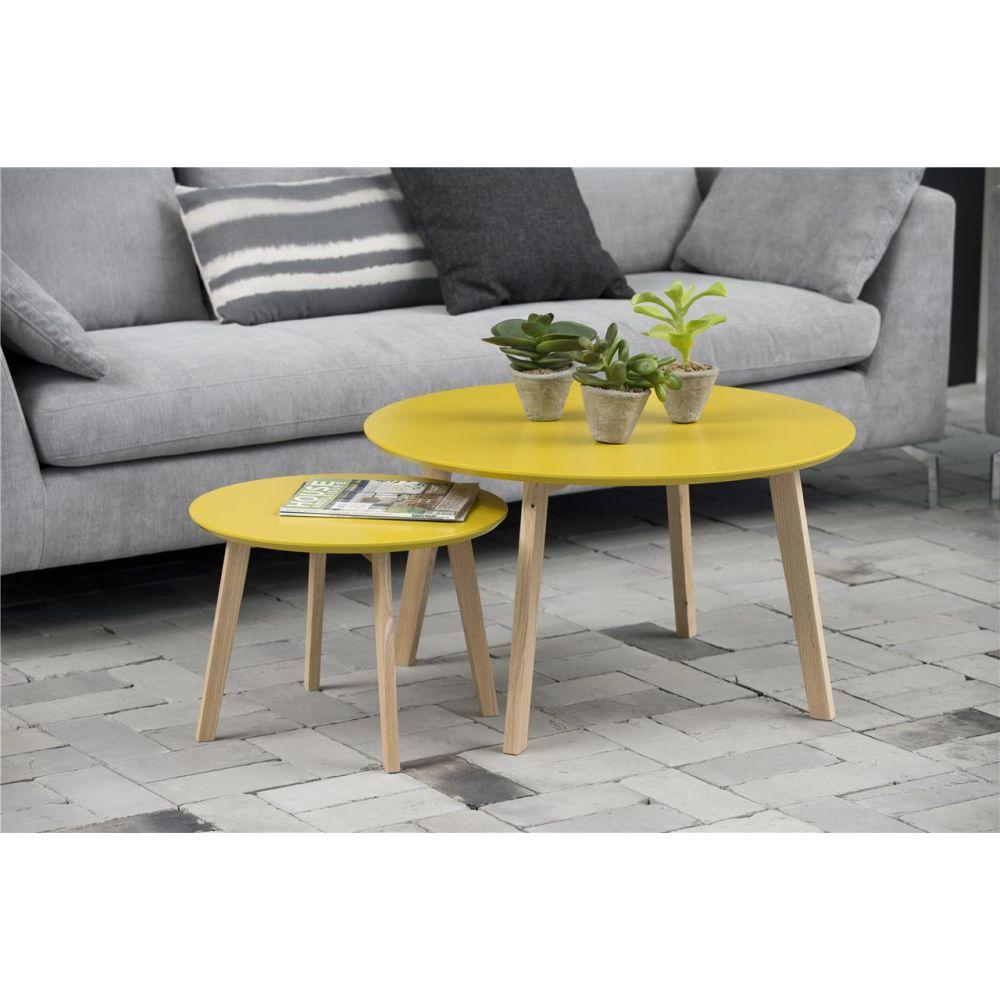Table basse scandinave effet beton