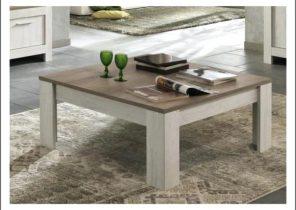 Table basse scandinave amanda chêne clair et blanc