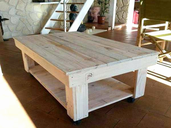 Table basse scandinave grise pas cher