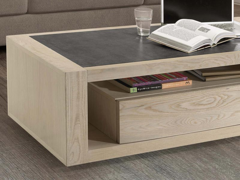 Meuble bois massif table basse