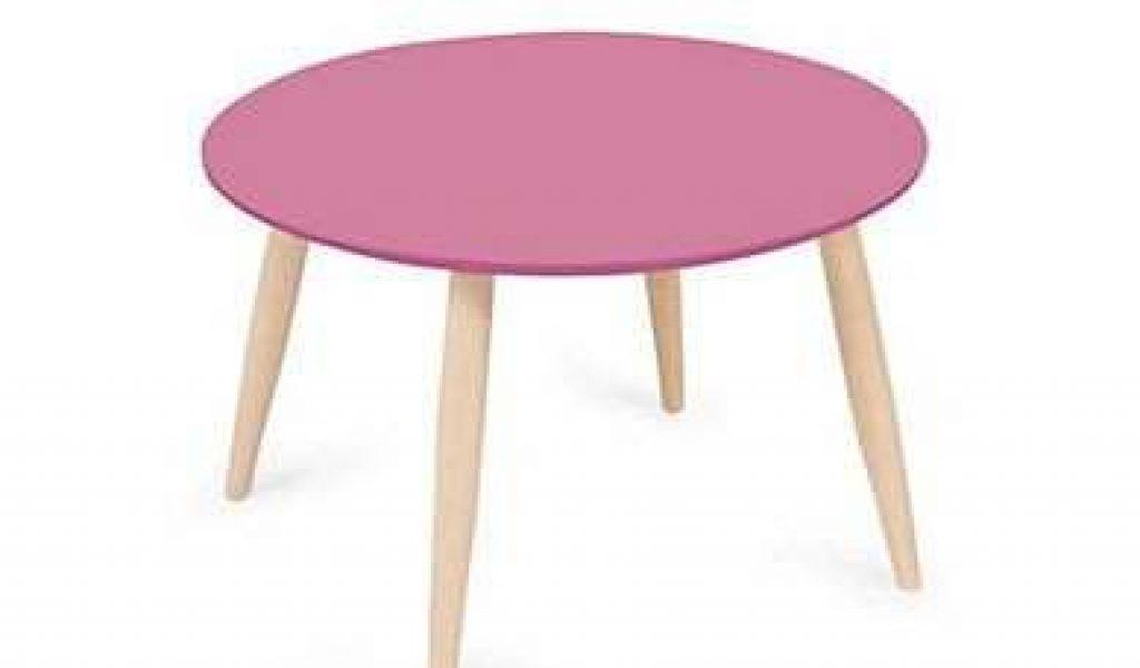 Table basse scandinave fushia