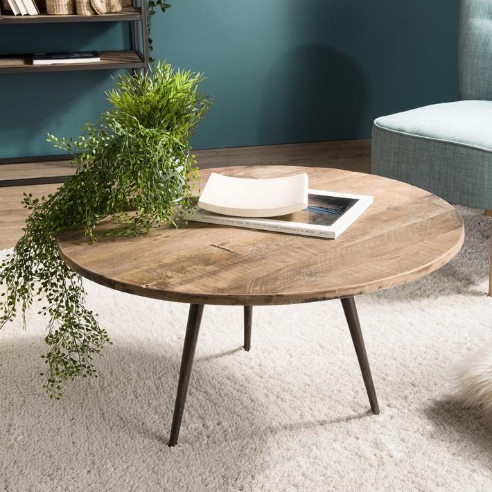 Table basse scandinave industrielle