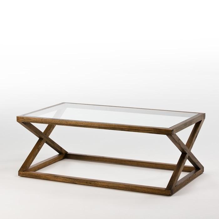 Table basse bois massif fonce