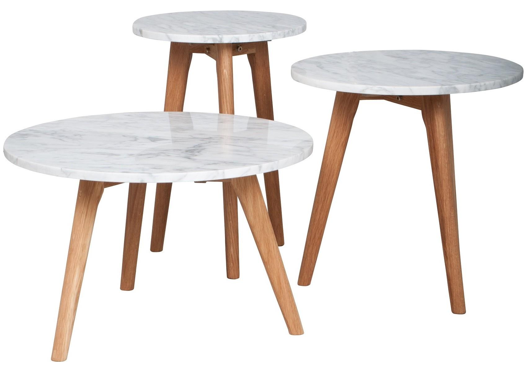 Table basse en marbre et bois