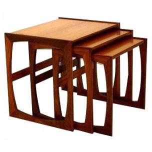 Table basse gigogne scandinave vintage