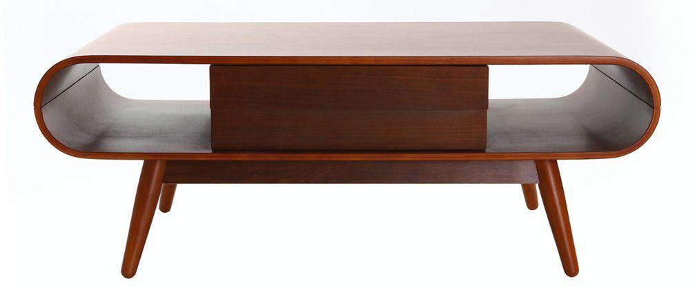 Table basse noyer scandinave